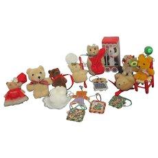 Set of 15 Teddy Bear Christmas Tree Ornaments