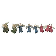 Set of 8+ Angel Christmas Tree Ornaments
