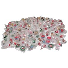 Box of 122 Unopened Small Wooden Christmas Tree Ornaments
