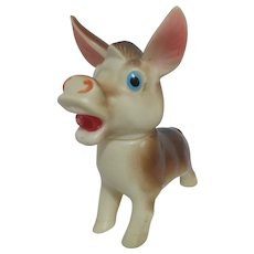 Rubber Donkey Squeaker Toy Movable Head