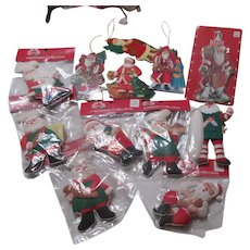Set of 13 Unbreakable Christmas Tree Ornaments-Some in Packages