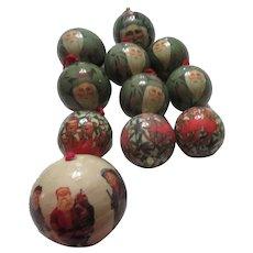 Set of 11 Lightweight Christmas Tree Balls