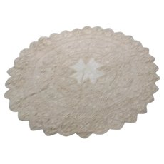 Lace and Material Centerpiece with Maltese Cross in Middle