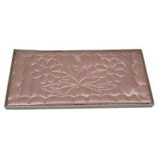 Pink Embroidered Satin Handkerchief Holder