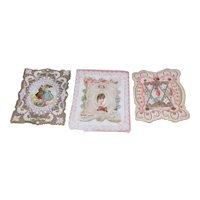 Set of 3 Valentine Cards Circa 1900 2 Unused
