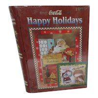"""1997 CocaCola Tin with Santa Original Contents """"Happy Holidays"""""""