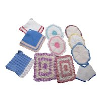 Set of 13 Hand Crocheted Pot Holders