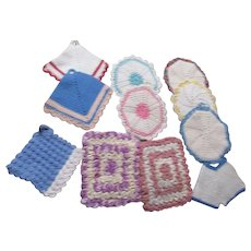 Set of 13 Hand Crocheted Pot Holders