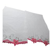 Pair of Pillow Cases with Embroidery, Crochet and Applique
