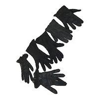 3 Pairs Women's Black Gloves