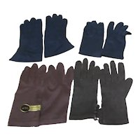 4 Pairs Lady's Dark Colored Gloves