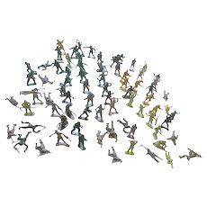 Set of 77 Plastic Toy Soldiers