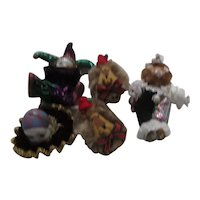 Set of 5 Circus Themed Christmas Tree Ornaments
