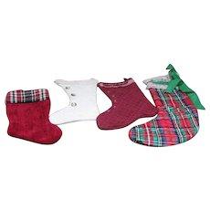 Set of 4 Elegant Christmas Stockings to Hang
