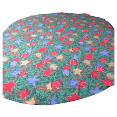 """70"""" Round Christmas Holiday Tablecloth"""
