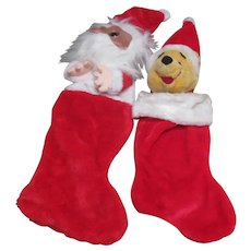2 Christmas Stockings Winnie The Pooh and Friend