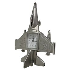 Small Jet Airplane Clock