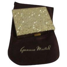 "Germaine Monteil ""Gold Nugget"" Compact with Pressed Powder Unused"