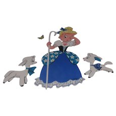 The Dolly Toy Company Wall Hanging 4 Piece Little Bo Peep