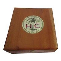 Wood Cigar Box Hinged Lid with Latch