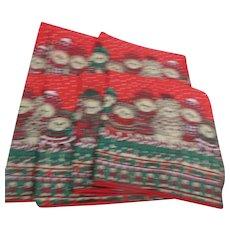 Set of 8 Teddy Bear Christmas Napkins