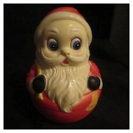Roly Polly  Celluloid  Santa Toy