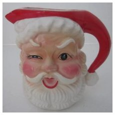 Santa Ceramic Milk Pitcher