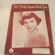 Teresa Brewer on Till I Waltz Again with You Sheet Music