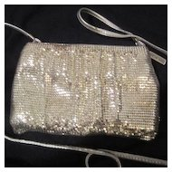 Vintage Silver Mesh Whiting and Davis Evening Bag-purse