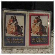 Vintage Sears Roebuck and Co Playing Cards, Unopened