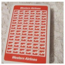 Vintage Deck of Playing Cards from Western Airlines
