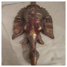 Vintage Wall Hanging of Ganesha Hindu Deity
