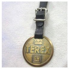 Vintage Watch Fob Terex GM