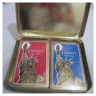 Set of 2 Deck Statue of Liberty Playing Cards