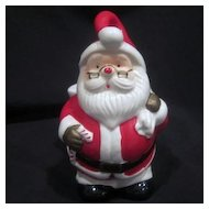 Vintage Santa with Glasses Holding Bag for Candy or Plant
