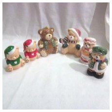 3 Sets of Christmas Bears Salt & Pepper Shakers