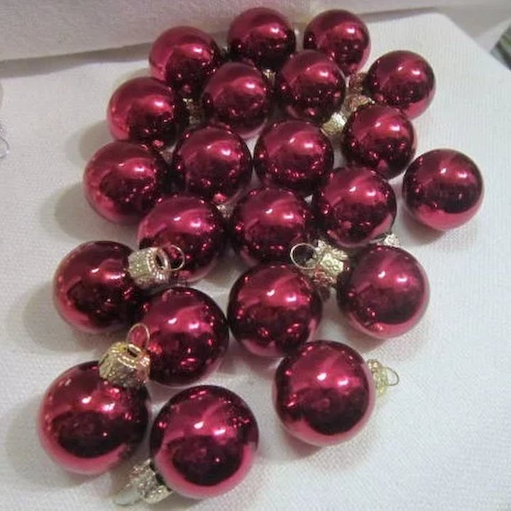 set of 70 mini christmas tree ornaments - Mini Christmas Tree Ornaments