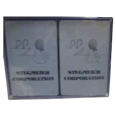 Double Deck Stegmeier Corporation Playing Cards Factory Sealed