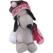 Plush Snoopy with Macy's Ski Cap 1968