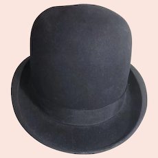Wine Stiff Black Bowler (Derby) Hat