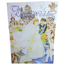 The Royal Wedding Cut Out Paper Dolls Book Diana & Charles Uncut