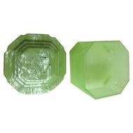 4 Piece Green Pyralin Vanity Set by Dupont