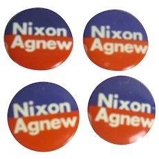 4 Political Pins Nixon/Agnew