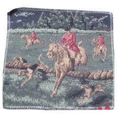 Small Tapestry of English Fox Hunting Scene