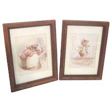 Two Framed Beatrix Potter Prints