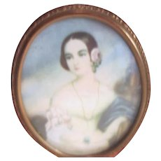 Oval Framed Cameo Picture of Isabella Montgomery