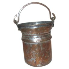 Hammered Copper on Tin Small Bucket