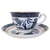 Double Phoenix Cup and Saucer by Nikko Ironstone Japan