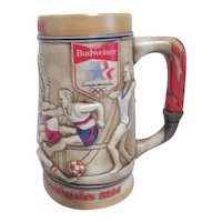 1984 L.A. Olympics Budweiser Beer Stein