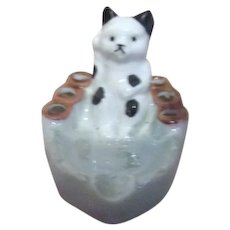 Small Cat Cigarette Holder and Ash Tray